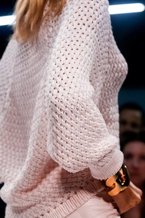 Balmain White Chunky Knit Sweater by