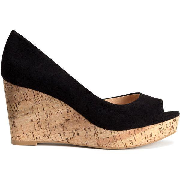 1000  ideas about Black Wedge Sandals on Pinterest  Black Wedges