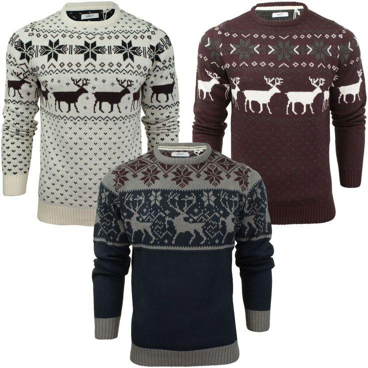 Mens Christmas Jumper Xmas / Reindeer Stag by Xact  | eBay | @giftryapp