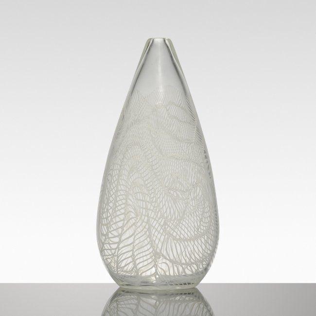 Lot:Archimede Seguso Composizione Lattimo vase, Lot Number:156, Starting Bid:$4000, Auctioneer:Wright, Auction:Archimede Seguso Composizione Lattimo vase, Date:08:00 AM PT - Dec 8th, 2015