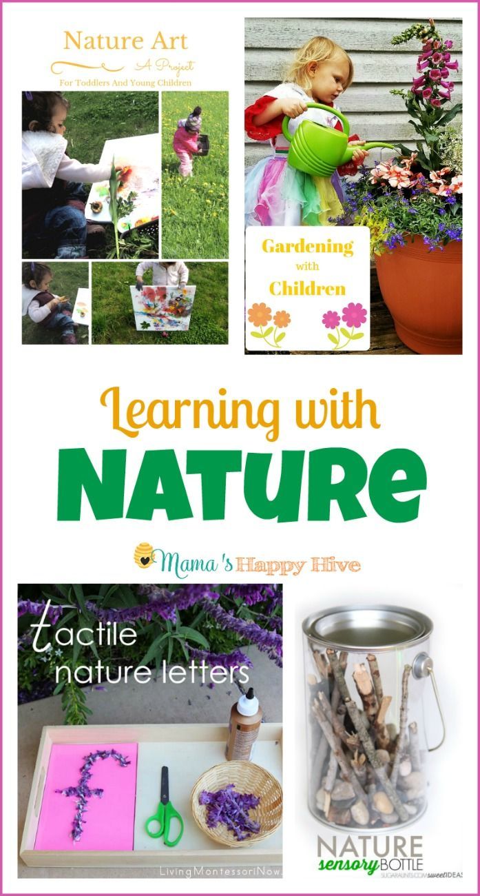 Children are drawn to the outdoors and embrace learning with nature. This collection of nature learning activities includes nature art (painting with flowers), gardening with children, Montessori inspired tactile nature letters, nature sensory bottles, bird unit study, and an impressive list of books about frogs. Features for this Week ~ Nature Art Project for Young …