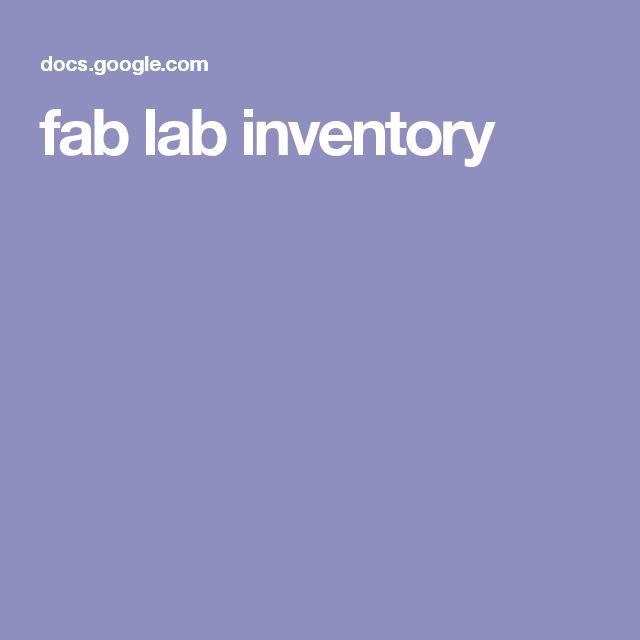 fab lab inventory