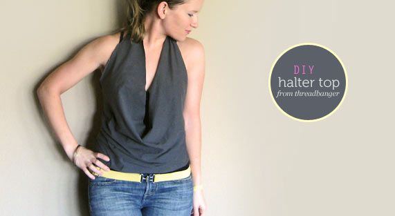 DIY halter top - could it really be this easy??