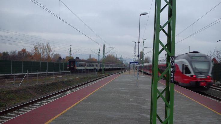 MÁV-Start #FLIRT by Stadler leaves Albertfalva train stop #Budapest #Hungary