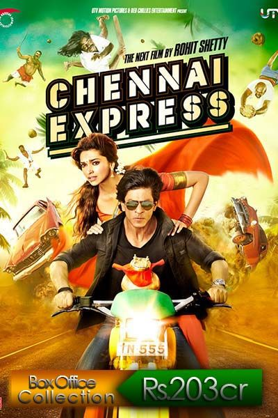 Deepika Padukone proved lucky for 'Chennai Express' and earned Rs.2013 crores