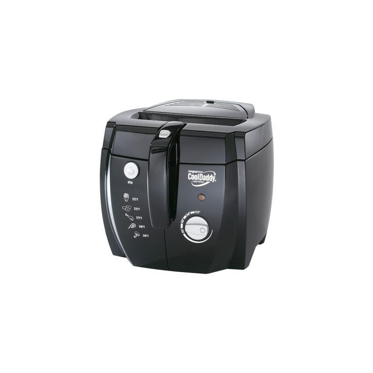 Presto Professional CoolDaddy Electric Deep Fryer- 05442, Black