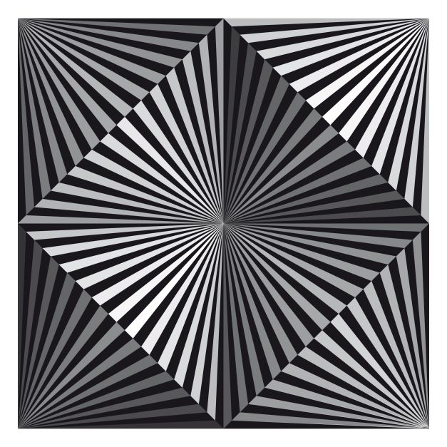 four cones in a square