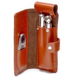 leather cigar flask case