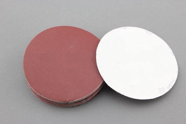 20 Pcs 100 Mm Diameter Flocking Sandpaper 100 Grit Sandpaper With 1 Pc Tray