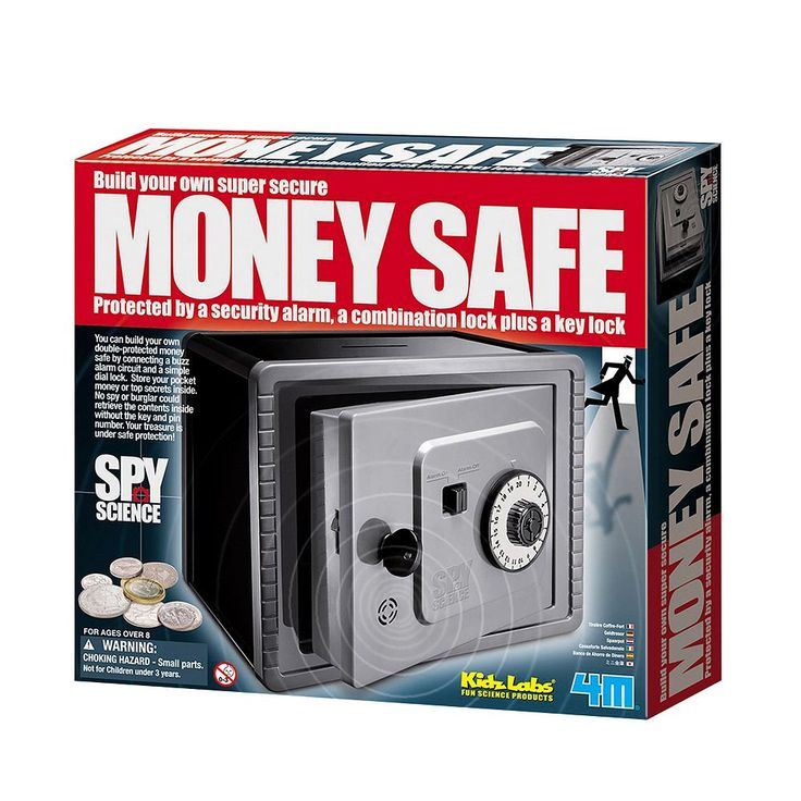 Toysmith 4M Spy Science Money Safe, Multicolor