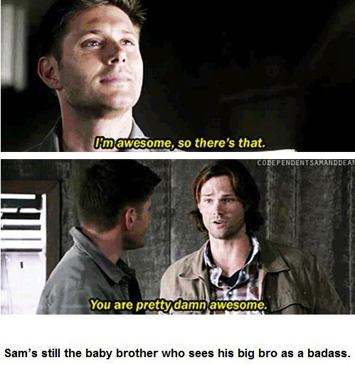 I really hope they get back to 'Sam and Dean', as opposed to 'Sam' and 'Dean', which is where we are now.