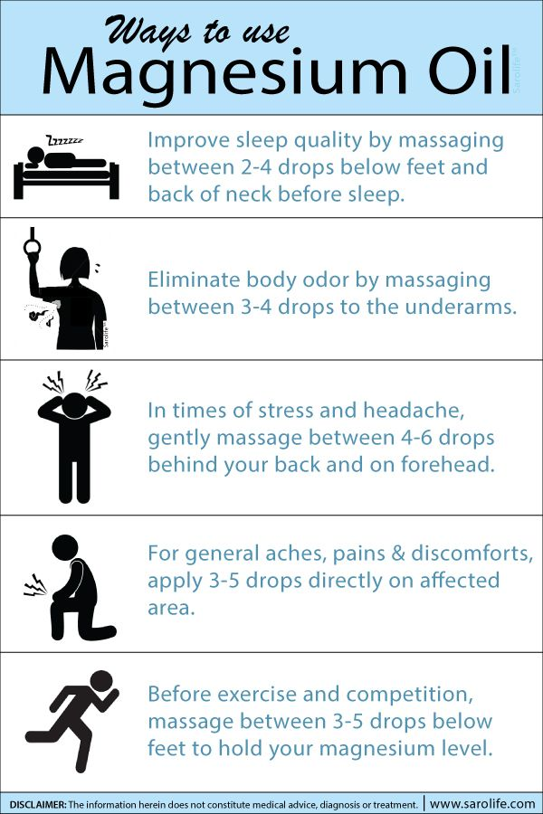 Transdermal magnesium therapy offers significant advantages when compared to other forms of magnesium therapy. Here's an infographic we made on how you can use Magnesium Oil daily. Live a healthy life, ...a SaroLife!™