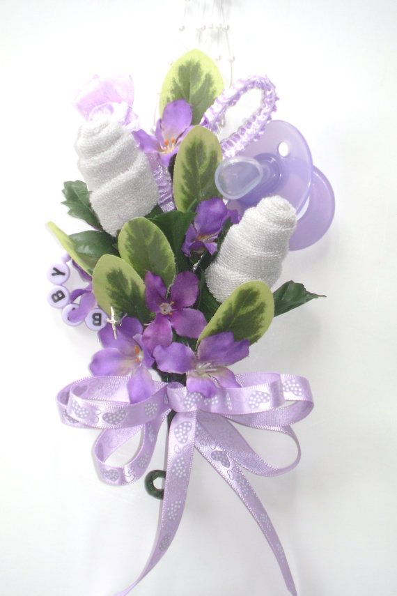 Baby Shower Corsage / Baby Washcloth Corsage / by NonisNiche, $15.00