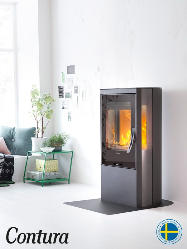 Contura 35 low with sober black steel.  The stove has a glass top and side glass areas so more of the fire can be seen.