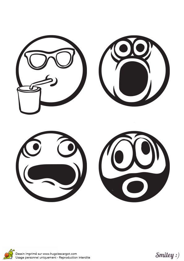 Les 12 meilleures images du tableau coloriages smiley sur - Smiley noir et blanc ...