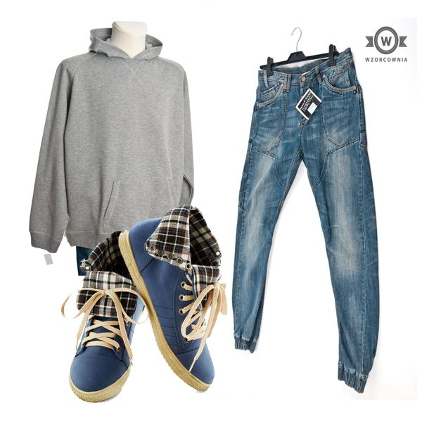 Sporty styling for him - hoodie, jeans and sneakers #styling #hoodie #jeans #sneakers #men