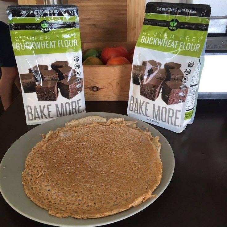 #bakemore #flour #nongmo #galette #bgreenfood #frenchfood #buckwheat #organic #glutenfree #yummi