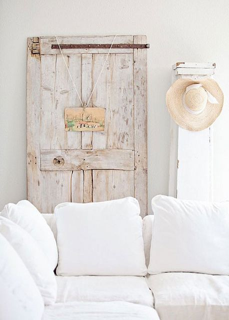 an old door as decoration by the style files, via Flickr