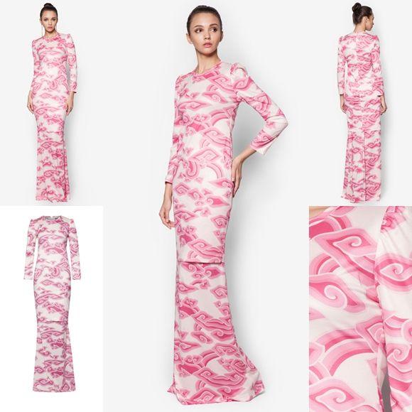 Fesyen Trend Terkini Baju Raya 2016 By Rizalman Marmar Collection Pink