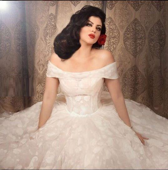 حليمة بولند ترتدي فستان الزفاف بجلسة تصوير جديدة