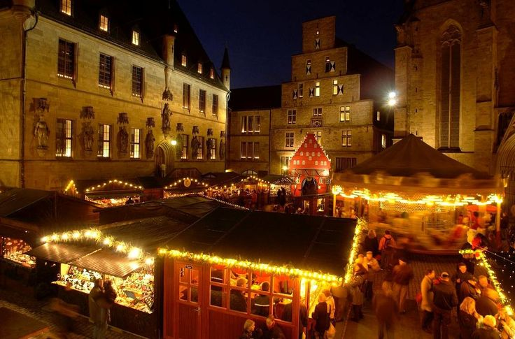 Historischer Weihnachtsmarkt in Osnabrück, Niedersachsen