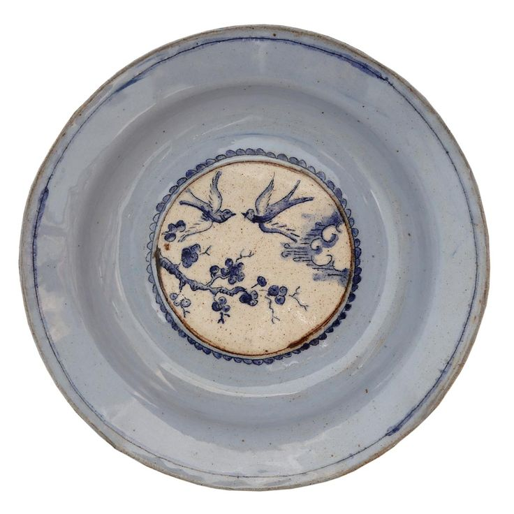 An original ceramic work by Lisa Ringwood entitled: 'Small Blue Plate VI'…