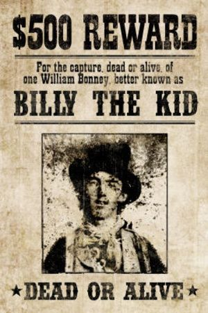 Billy The Kid Western Wanted Sign Print Poster Poster at AllPosters.com