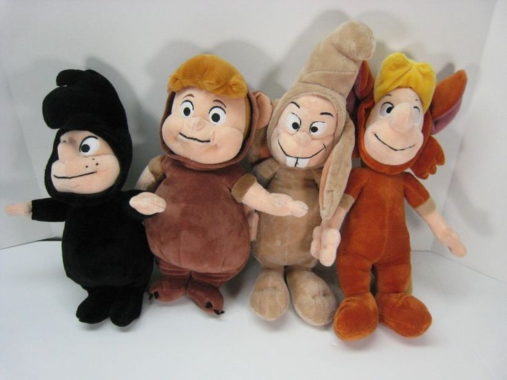 Disney Store Peter Pan LOST BOYS Lot of 4 Plush Stuffed Animal Lovey Toy #Disney