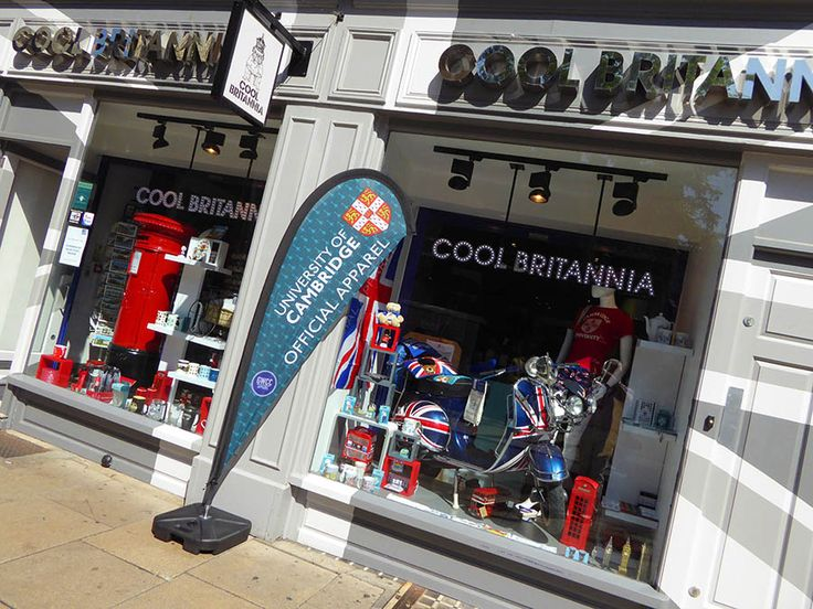 Cool Britannia  - stocking official University of Cambridge clothing and souvenirs