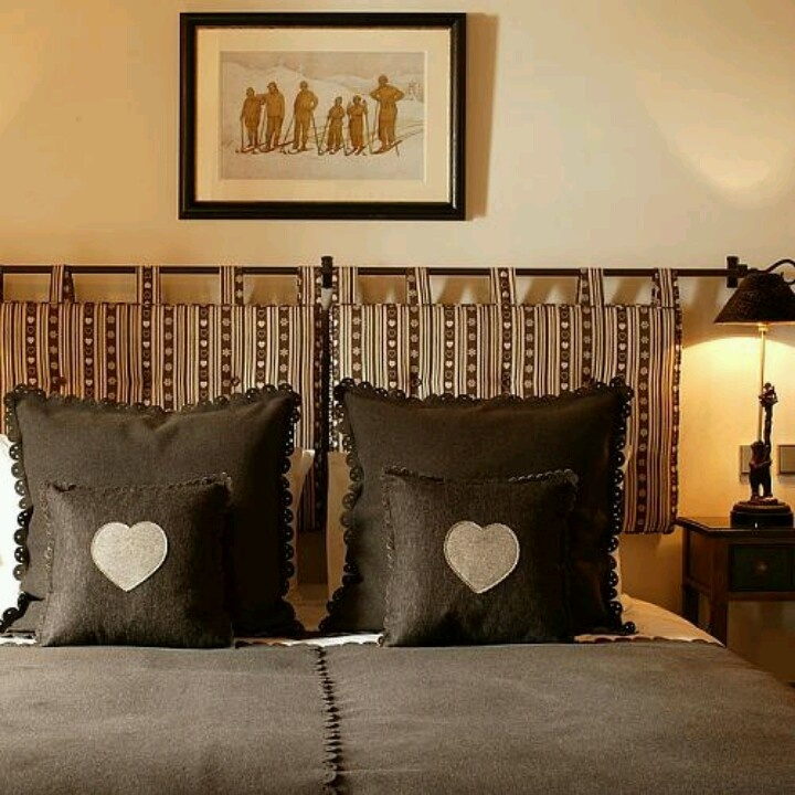 Best 25 Curtain Rod Headboard Ideas On Pinterest