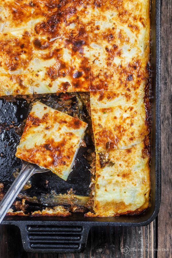 Moussaka Recipe The Mediterranean Dish A Layered Eggplant Casserole With Potatoes And A Hearty