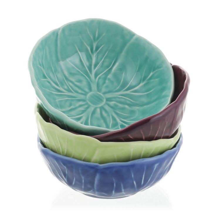 Ceramic leaf bowls, from £6.95, John Jenkins (Nyewood)
