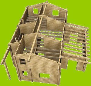 Casas de madera cali lindas casas prefabricadas en pino - Casas de madera de pino ...