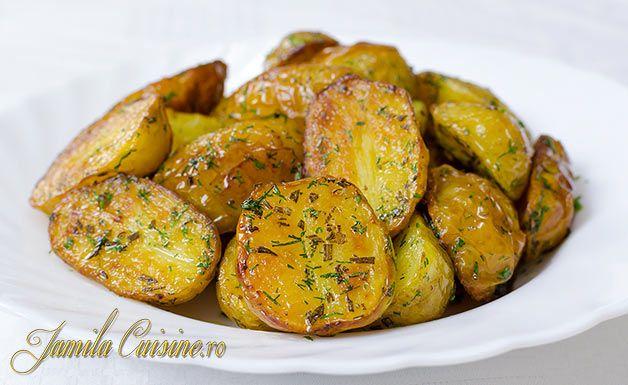 Cartofi noi la cuptor - reteta video - JamilaCuisine