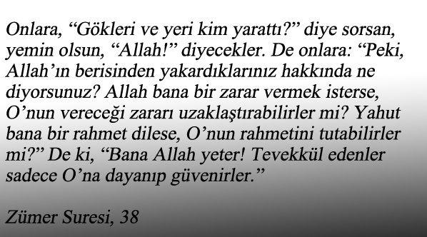 Kur'an-ı Kerim | Zümer Suresi 38. Ayet