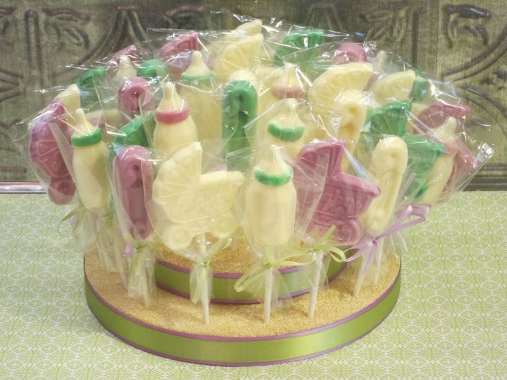 baby shower lollipops