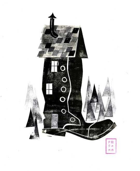A Collection of Our Favorite Black and White Illustrations - Chris Sasaki