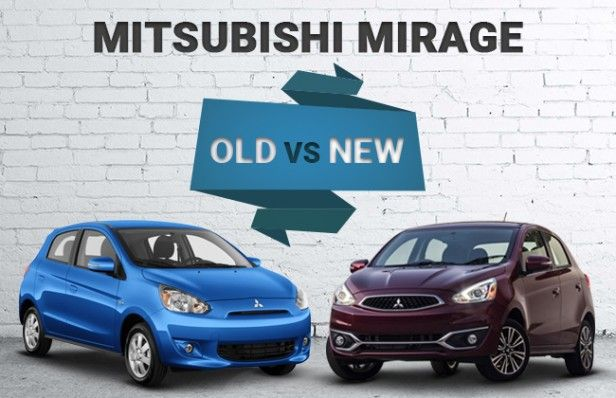Side by side comparison of the new front end for the 2017 Mitsubishi Mirage, really classed up the styling this year! www.mitsu.ca