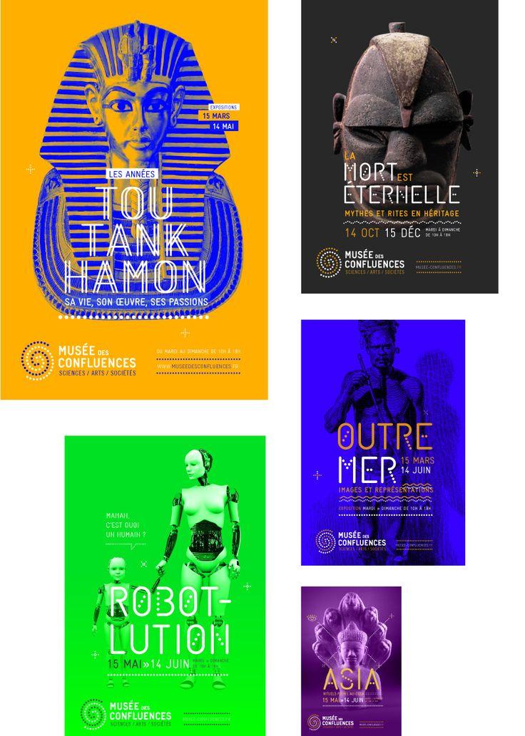 Identité visuelle globale musée des confluences.  Brand design Poster Design