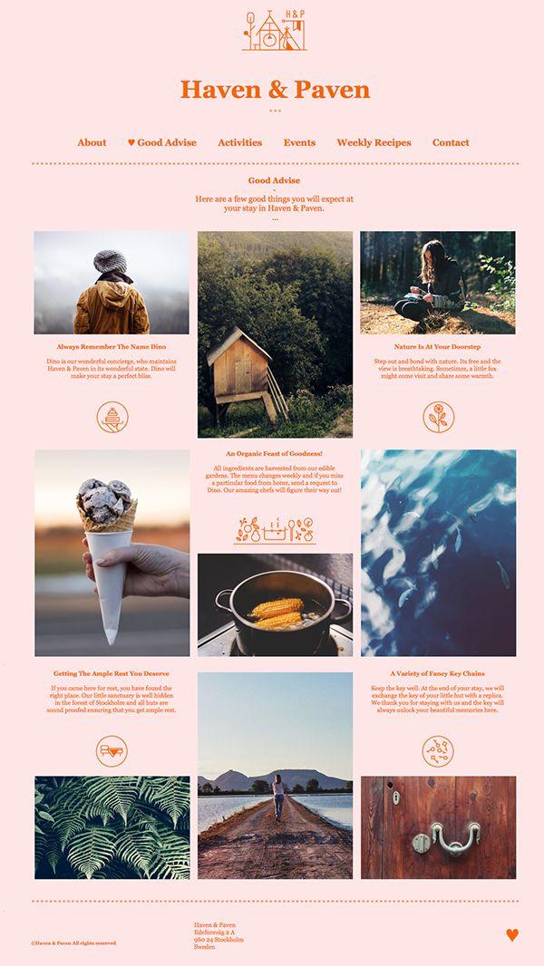 Haven & Paven on Behance #web #webdesign #design #layout #grid #agency