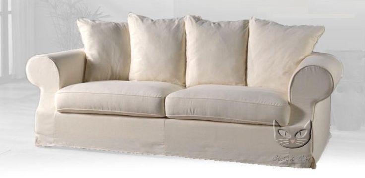 Sofa w stylu skandynawskim z funkcją spania i zdejmowanym pokrowcem EMMA - Sofy z funkcją spania | sklep internetowy Black Cat Design