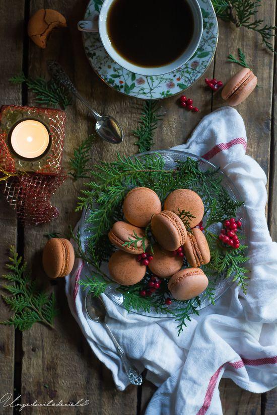 Macarons de naranja especiada y chocolate