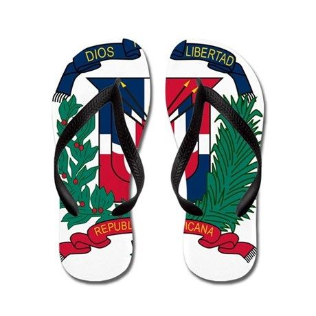 08bd5ce39 Dominican Republic Coat Of Arms Flip Flops  Ad knock Flops CafePress socks