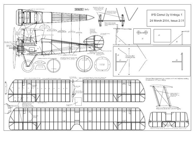 Sopwith Camel rc plane plans - Google Search                                                                                                                                                                                 More