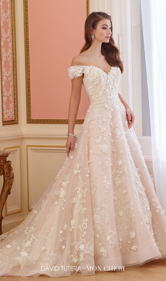 Featured Dress: David Tutera for Mon Cheri; Wedding dress idea.