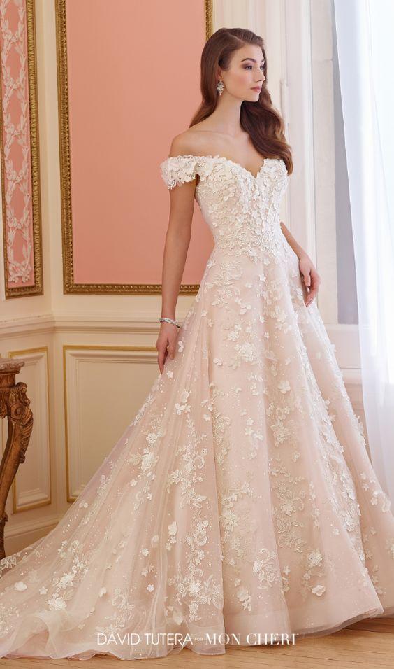 Featured Dress: David Tutera for Mon Cheri; Wedding dress idea.