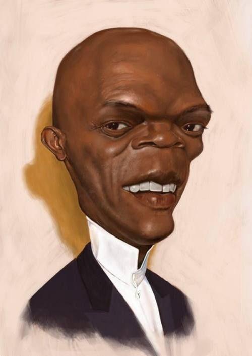 celebrity caricatures 10 Funky celebrity caricatures by Patrick . Samuel Jackson.