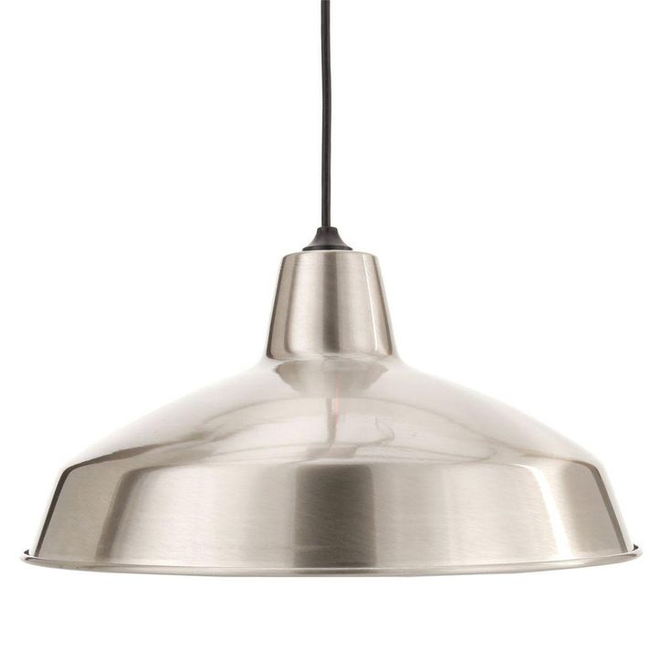 Hampton bay 1 light brushed nickel warehouse pendant