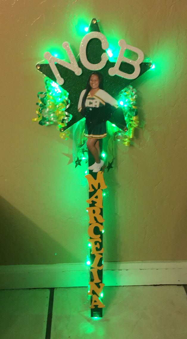 Cheerleading spirit sign for my daughters national cheer competition.