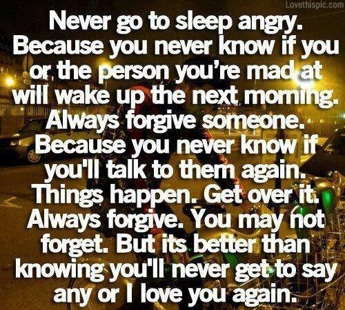 going to bed angry quotes 1